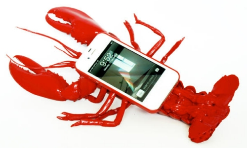 Lobster iPhone case with phone