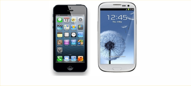 iPhone 5 Galaxy S4