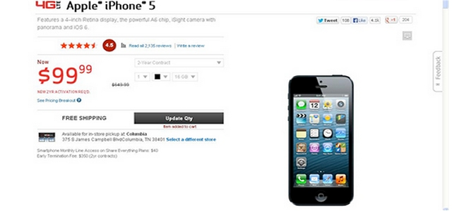 Verizon $99 iPhone