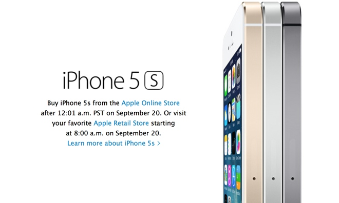 iPhone 5S preorder