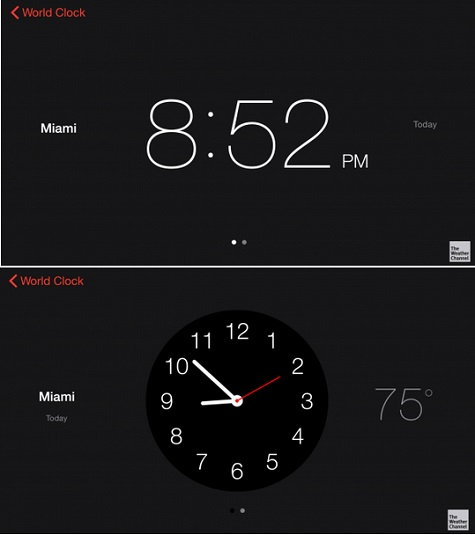 how to change clock display on iphone 6
