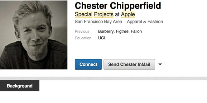 Chester Chipperfield executive of Burberry