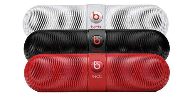Beats Pill White Black and Red