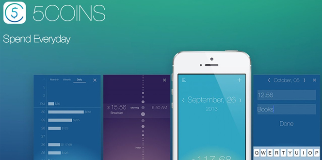 5coins app helps you keep track of finances spending habits
