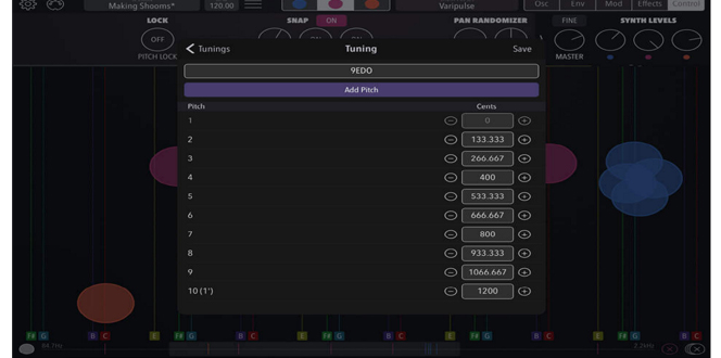 Shoom Synthesizer app