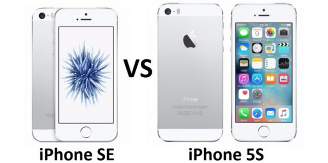 iPhone SE vs iPhone 5s