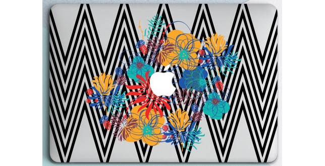 MacBook Decal Floral Case