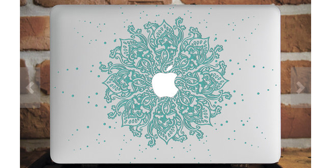Teal macbook