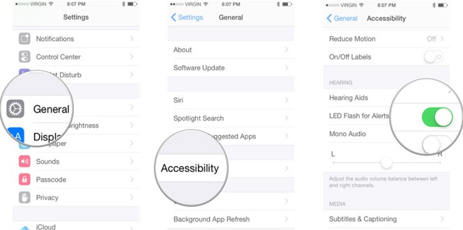 How to get led alerts on your iphone