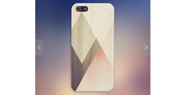 Geometric accents iPhone Case