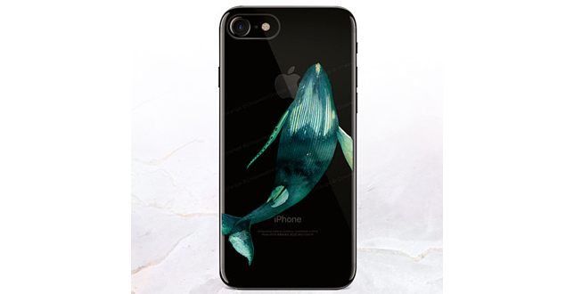 clear iphone whale case